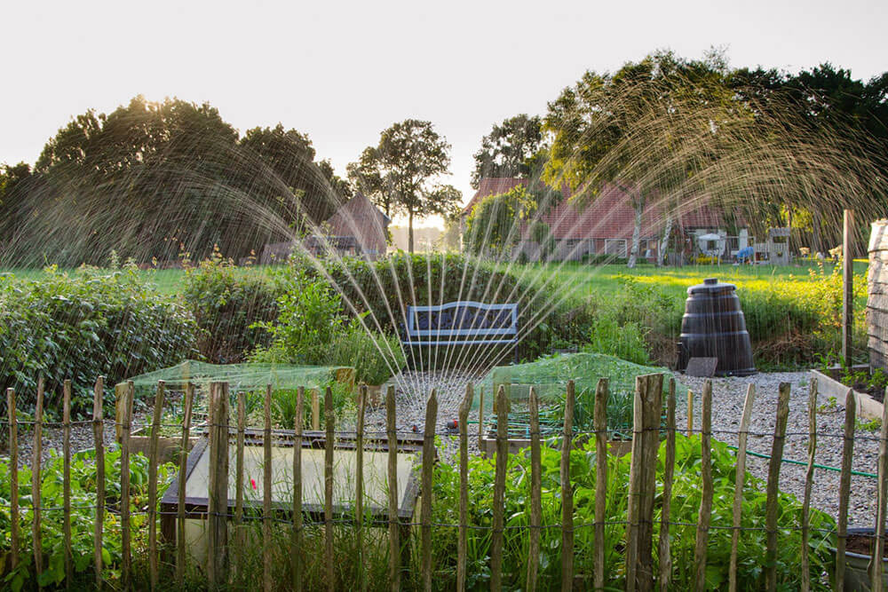 Irrigation system in a park